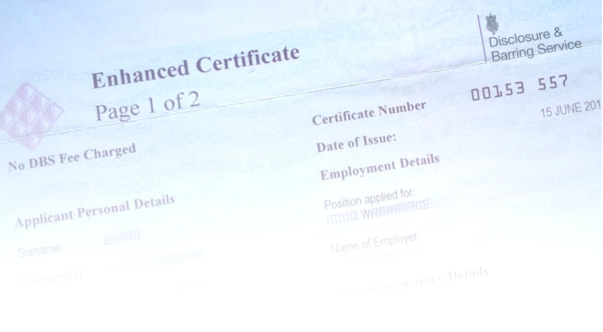 Dbs Checks Licensing Coaching
