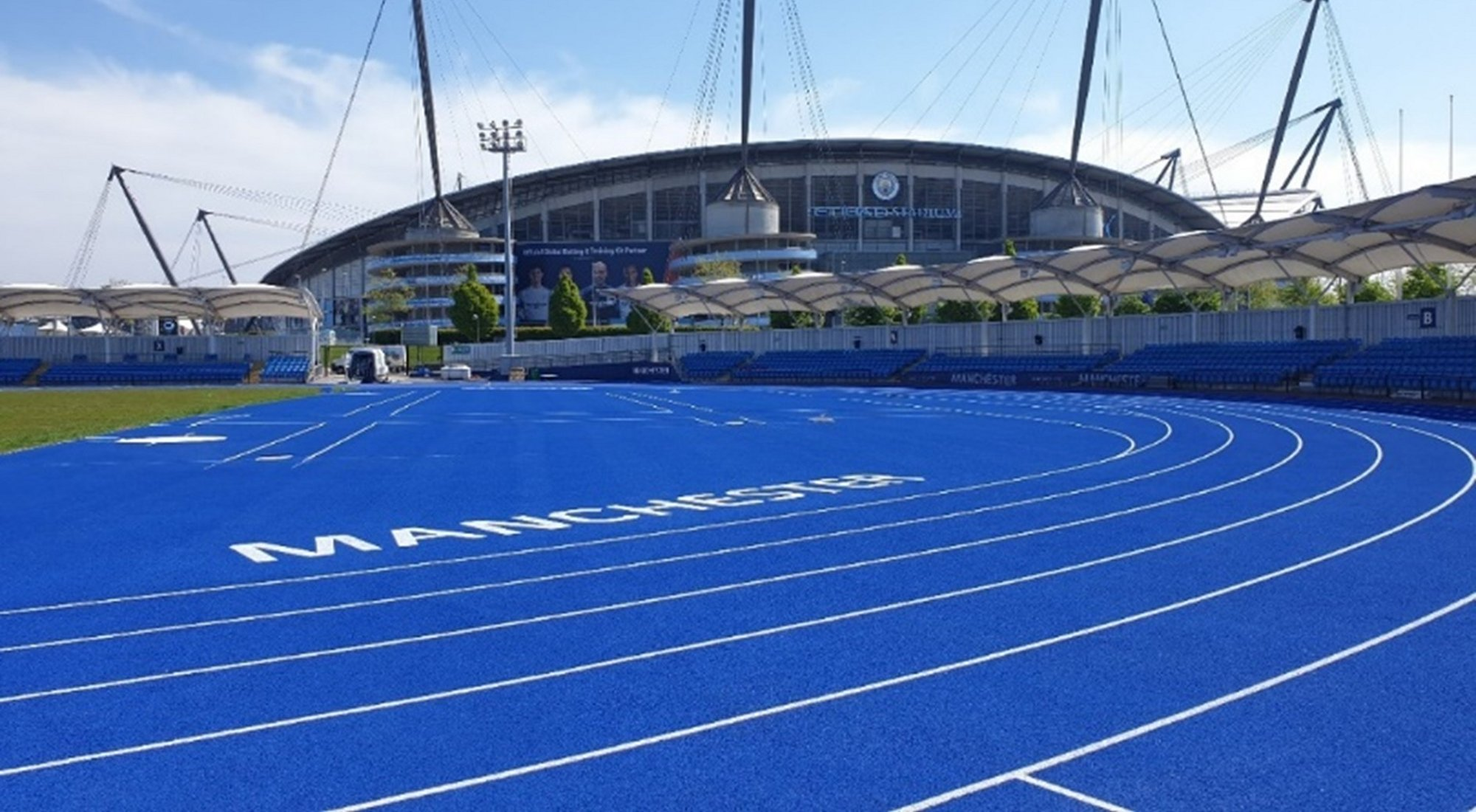 Polytan surface on Manchester track