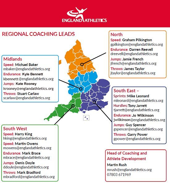 Regional Coach Lead area map