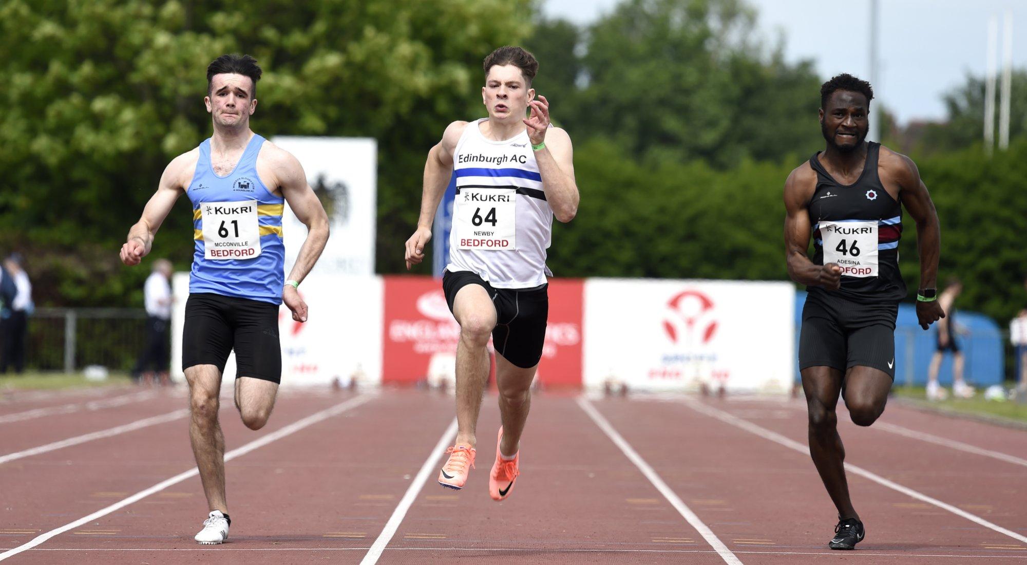 Under 20 men 100 metres