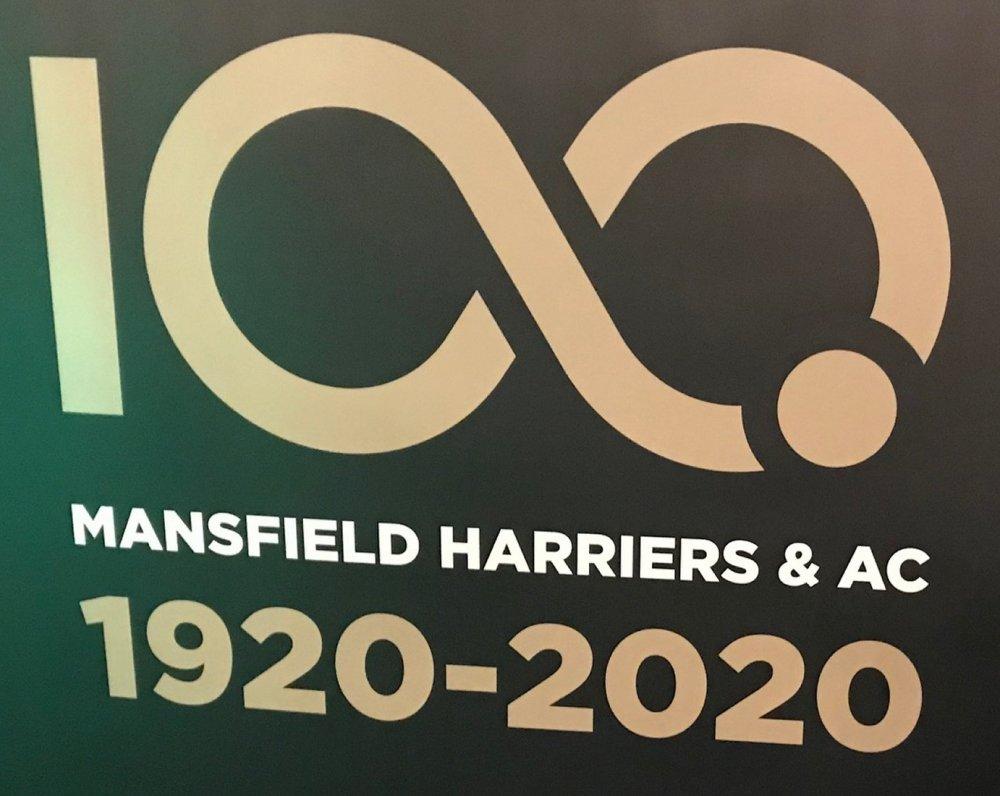 Mansfield Harriers 100 years celebration logo