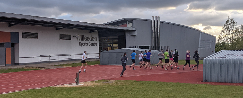Queens Park Harriers running at Willesden track image