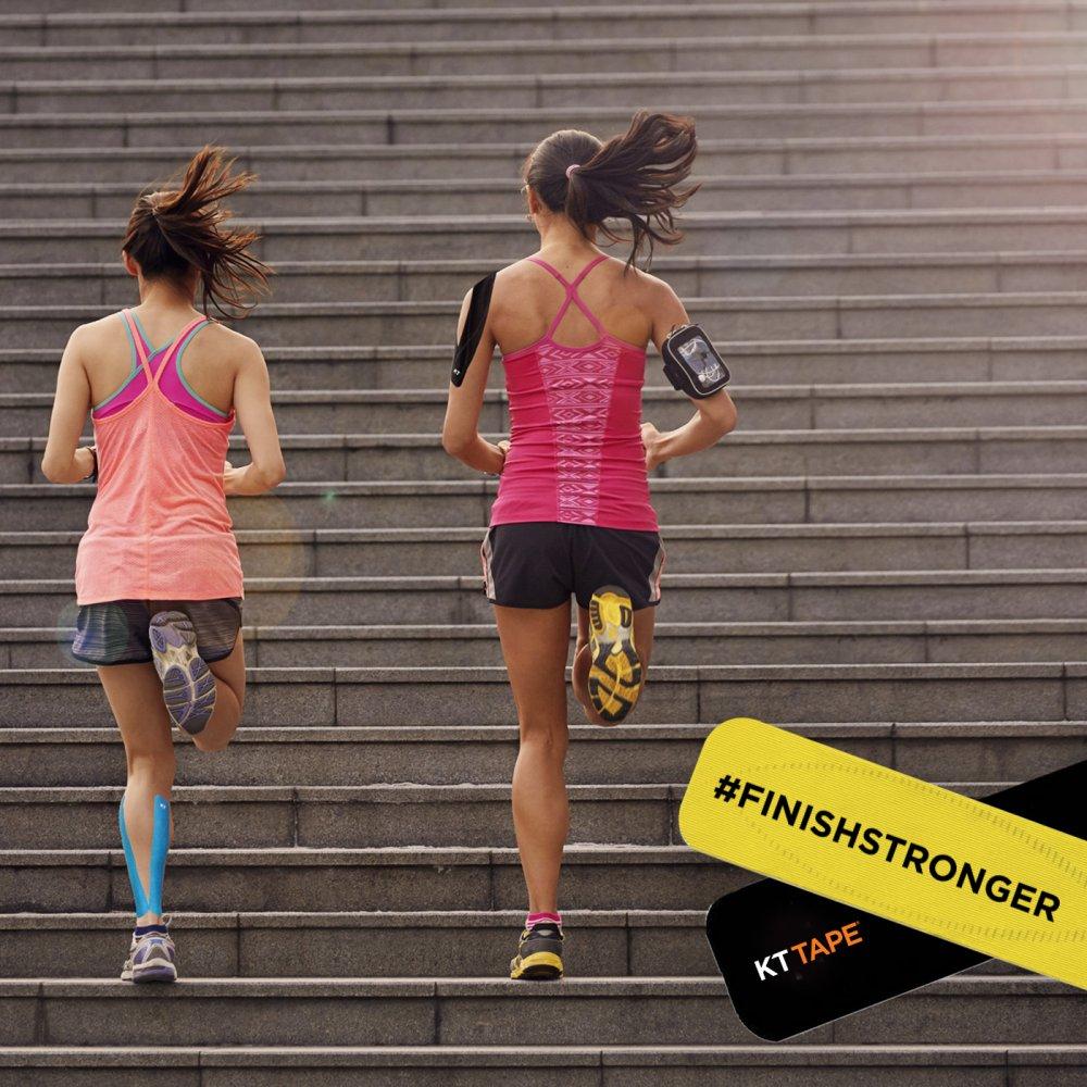 KT Tape 2 women running up steps