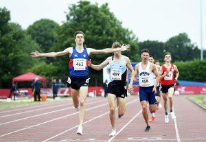 Tiarnan Crorken wins the U23 men's 1500m at the England U20/U23 Track and Fields Championships 2021