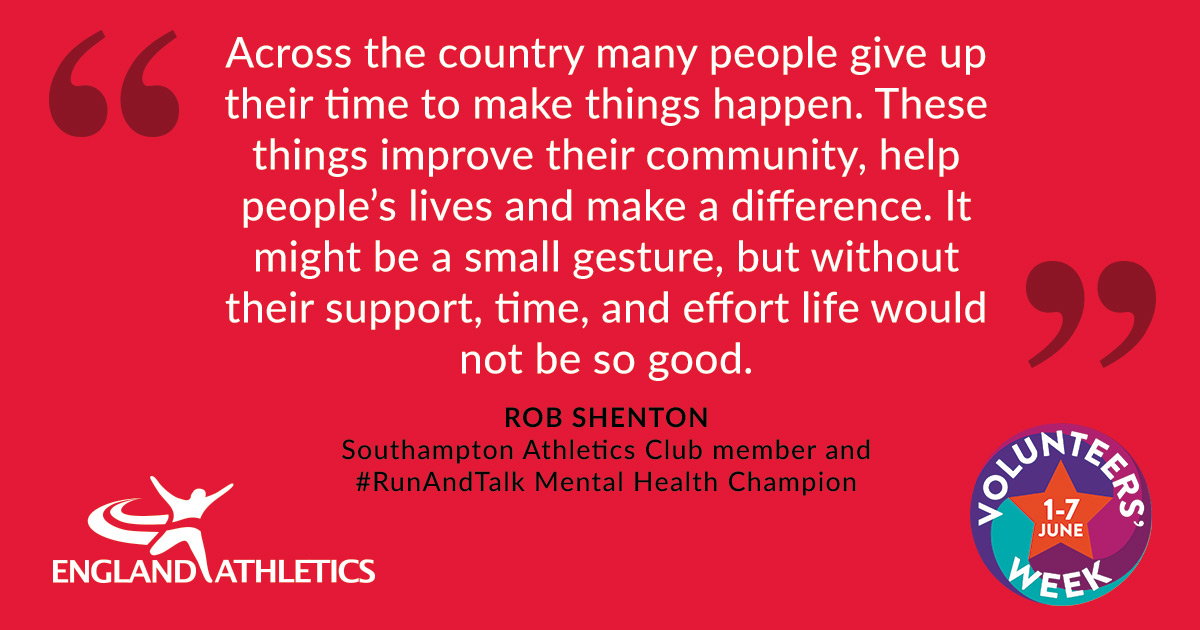 """Quote from Rob Shenton """"Across the country many people give up their time to make things happen. These things improve their community, help people's lives and make a difference. It might be a small gesture, but without their support, time, and effort life would not be so good."""""""