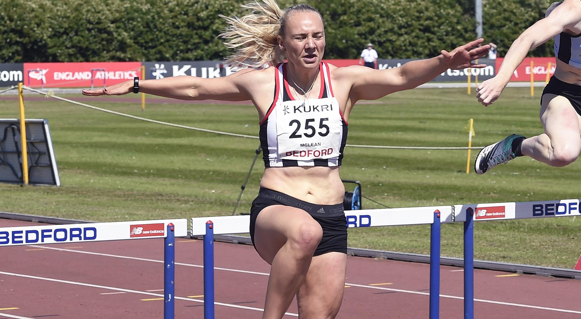 Hayley McLean hurdles