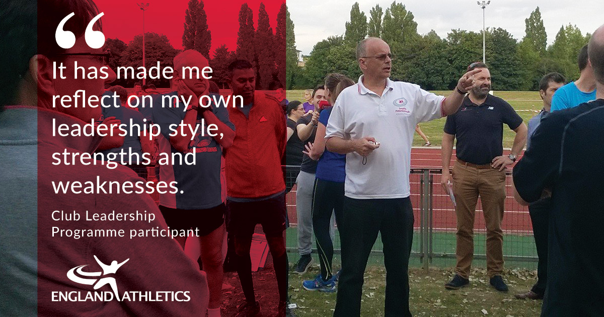 """CLub Leadership programme quote """"It has made me reflect on my own leadership style, strengths and weaknesses"""""""